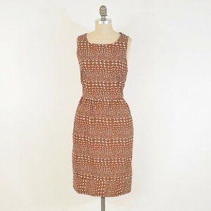 Whit Dotty Print Open-Back Dress
